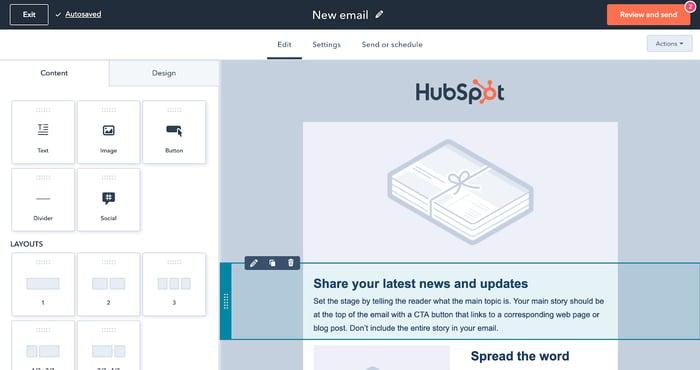 Email Marketing Tool HubSpot